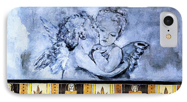 IPhone Case featuring the photograph Cherub Friendship by Marion McCristall