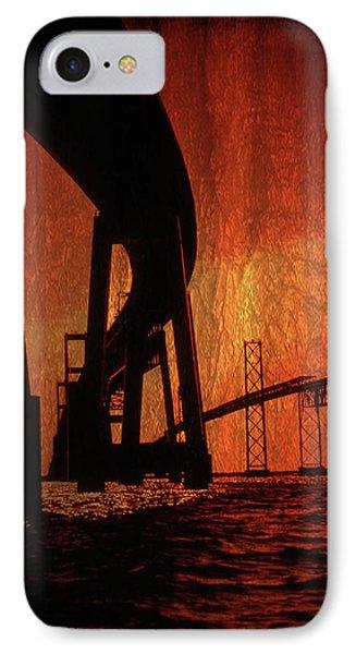 Chesapeake Bay Bridge Artistic IPhone Case by Skip Willits