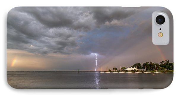 IPhone Case featuring the photograph Chesapeake Bay Rainbow Lighting by Jennifer Casey