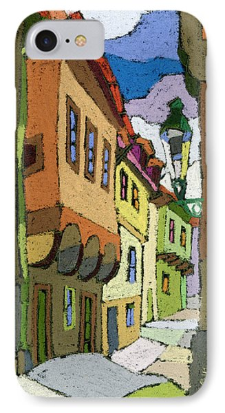 Chesky Krumlov Street Nove Mesto IPhone Case by Yuriy  Shevchuk