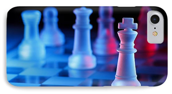 Chess Board Game IPhone Case by Jun Pinzon