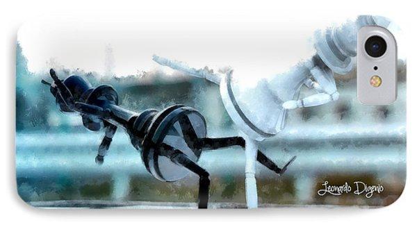 Chess Figthers  - Aquarell Style -  - Da IPhone Case by Leonardo Digenio