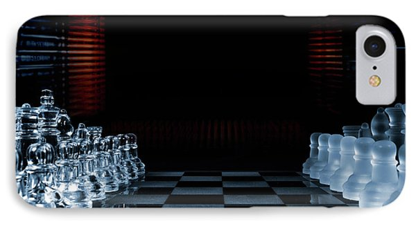 Chess Game Performed By Artificial Intelligence IPhone Case by Christian Lagereek