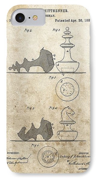Chess Pieces Patent IPhone Case by Dan Sproul