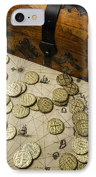 Chest With Pirate Treasure IPhone Case by Garry Gay