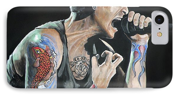 Chester Bennington Phone Case by Tom Carlton