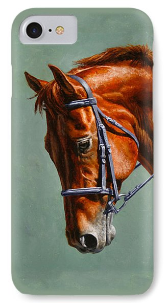 Chestnut Dressage Horse Phone Case IPhone Case