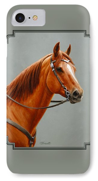 Chestnut Dun Horse Painting IPhone Case