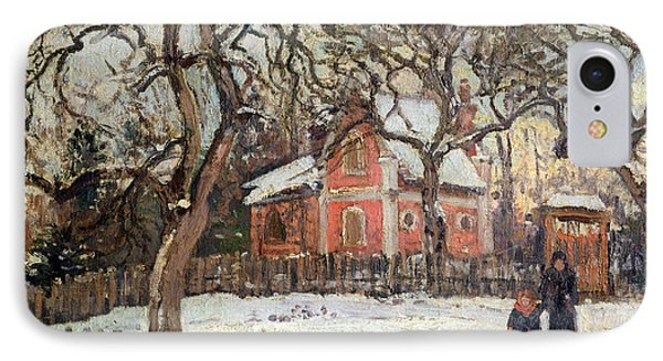 Chestnut Trees At Louveciennes IPhone Case by Camille Pissarro