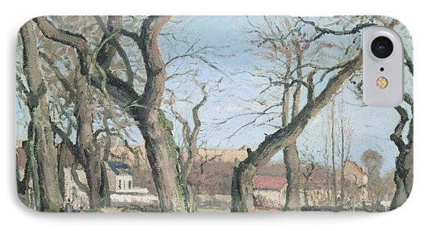 Chestnut Trees At Louveciennes Phone Case by Camille Pissarro