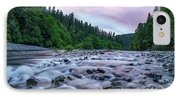 Chetco River Sunset 2 IPhone Case by Leland D Howard