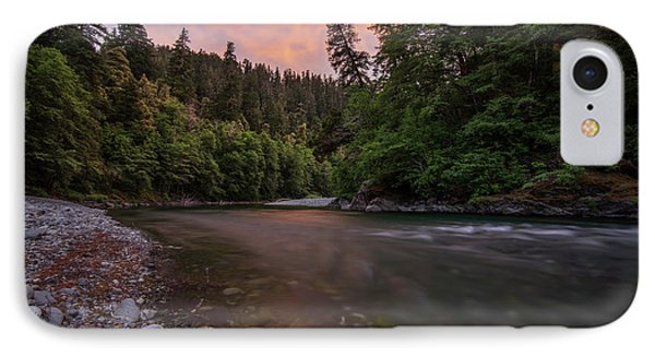 Chetco River Sunset IPhone Case by Leland D Howard