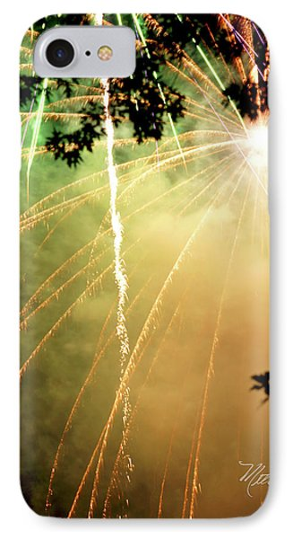 IPhone Case featuring the photograph Chetola Yellow Fireworks by Meta Gatschenberger