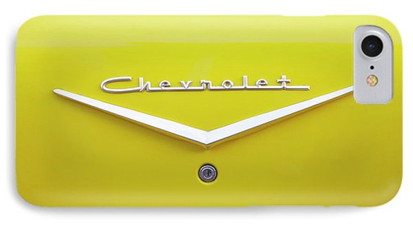 IPhone Case featuring the photograph Chevrolet Bel Air In Yellow by Toni Hopper