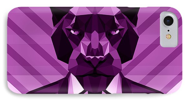 Chevron Panther IPhone 7 Case by Gallini Design
