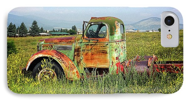 IPhone Case featuring the mixed media Chevy In A Field by Terry Rowe