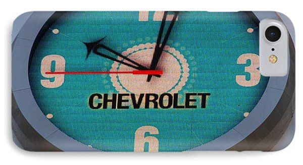 Chevy Neon Clock Phone Case by Rob Hans