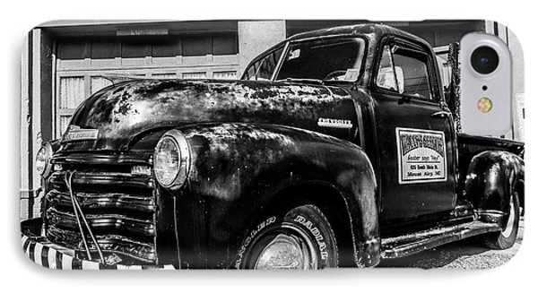 Chevy Pickup At Wally's IPhone Case by Cynthia Wolfe