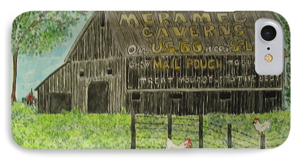 IPhone Case featuring the painting Chew Mail Pouch Barn by Kathy Marrs Chandler
