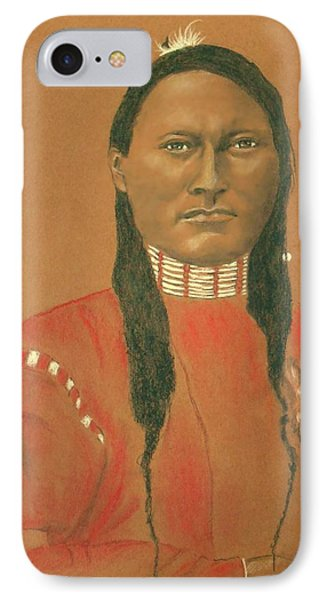 Cheyenne Scout Red Sleeve, 1879 -- Historical Portrait Of Native American Man IPhone Case by Jayne Somogy