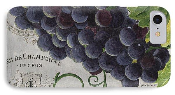 Wine iPhone 7 Case - Vins De Champagne 2 by Debbie DeWitt