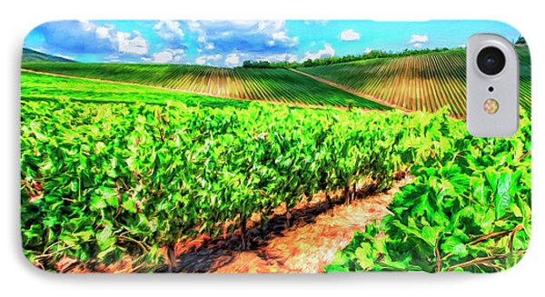 Chianti Vineyard In Tuscany IPhone Case