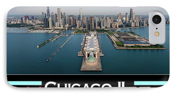 Chicago Aerial Poster IPhone Case by Steve Gadomski