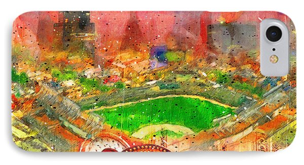 Chicago And Wrigley Field IPhone Case by John Farr