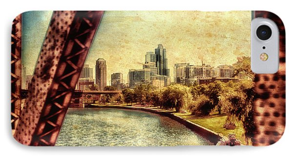 Chicago Approaching The City In June Textured IPhone Case by Thomas Woolworth
