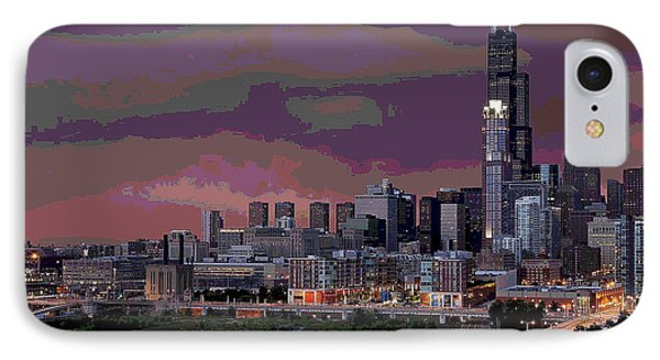 Chicago At Night IPhone Case by Charles Shoup