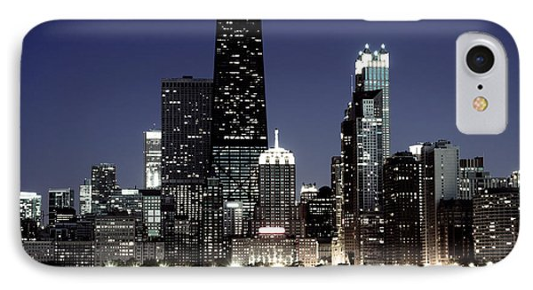 Chicago At Night High Resolution IPhone Case by Paul Velgos