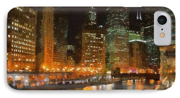 Chicago At Night Phone Case by Jeff Kolker