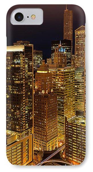 Chicago At Night IPhone Case by Joni Eskridge