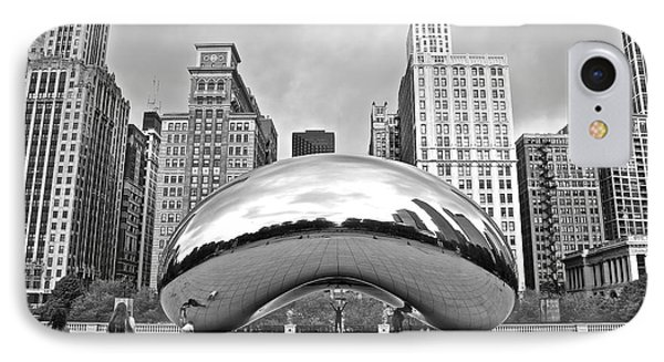 Chicago Bean In Black And White IPhone Case by Frozen in Time Fine Art Photography