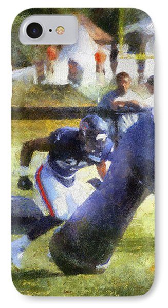 Chicago Bear Camp Hitting The Pads Pa 01 Vertical IPhone Case by Thomas Woolworth