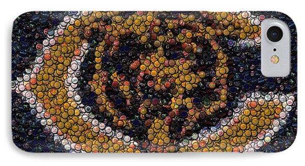 Chicago Bears Bottle Cap Mosaic Phone Case by Paul Van Scott