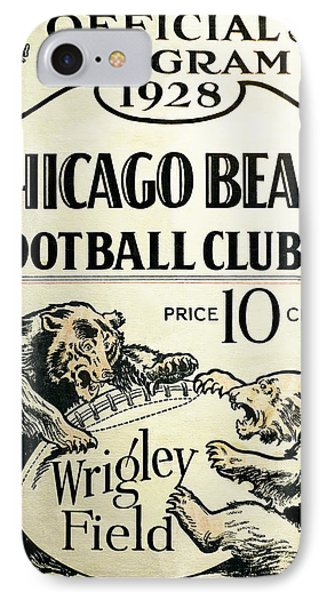 Chicago Bears Football Club Program Cover 1928 IPhone Case