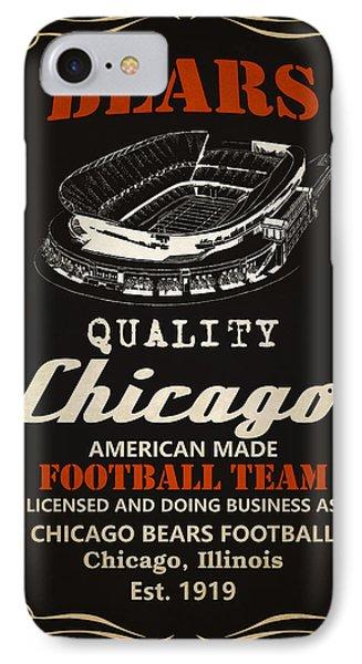 Chicago Bears Whiskey 2 IPhone Case by Joe Hamilton