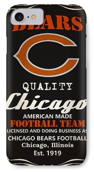 Chicago Bears Whiskey IPhone Case by Joe Hamilton