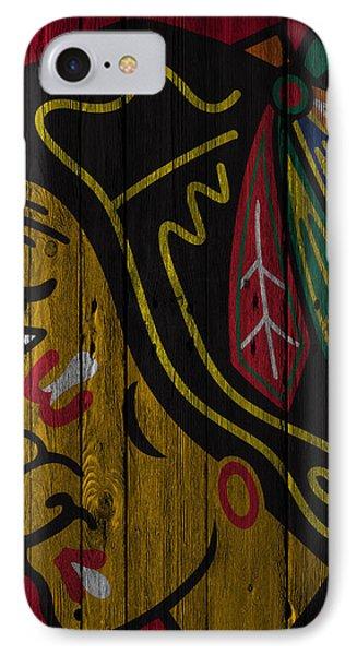 Chicago Blackhawks Wood Fence IPhone Case by Joe Hamilton