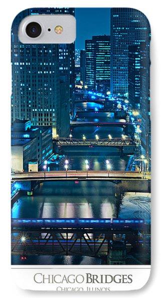 Chicago Bridges Poster Phone Case by Steve Gadomski