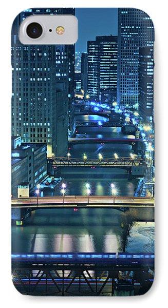 City Scenes iPhone 7 Case - Chicago Bridges by Steve Gadomski