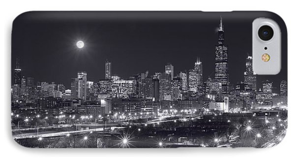 Chicago By Night IPhone Case by Steve Gadomski