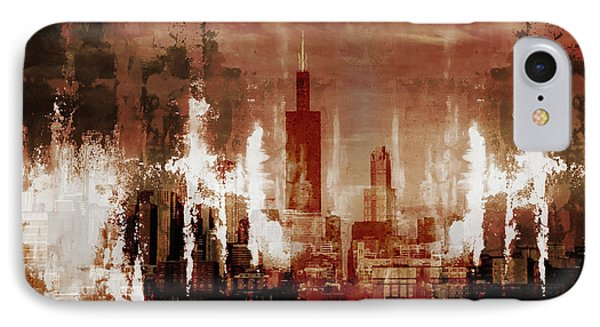Chicago City Art 01 IPhone Case by Gull G