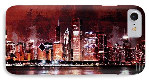Chicago City Art 99k IPhone Case by Gull G