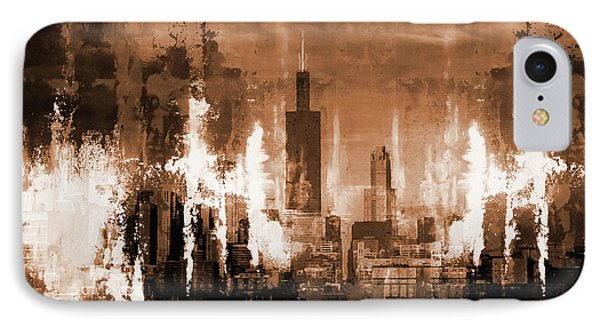 Chicago City Usa 01 IPhone Case by Gull G