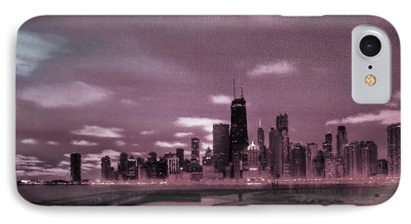 Chicago City View 03 IPhone Case by Gull G