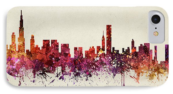 Chicago Cityscape 09 IPhone Case