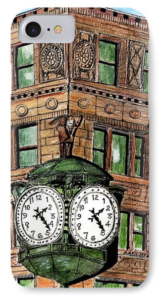 Chicago Clock IPhone Case by Paul Meinerth