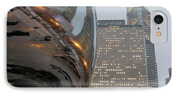 IPhone Case featuring the photograph Chicago Cloud Gate. Reflections by Ausra Huntington nee Paulauskaite